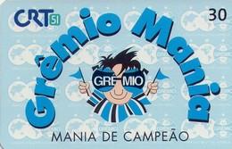 TARJETA TELEFONICA DE BRASIL (FUTBOL, GREMIO MANIA, 06/99). (443) - Brazil