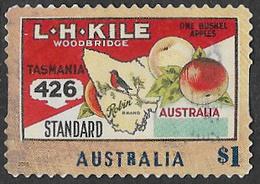 Australia 2016 Fruit Labels $1 Type 3 Self Adhesive Good/fine Used [38/31211/ND] - 2010-... Elizabeth II
