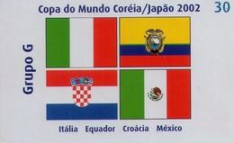 TARJETA TELEFONICA DE BRASIL (FUTBOL, GRUPO G, BANDERAS 7/8, 05/2002). (449) - Brasil