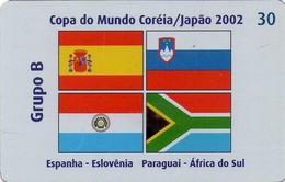 TARJETA TELEFONICA DE BRASIL (FUTBOL, GRUPO B, BANDERAS 2/8, 03/2002). (450) - Brazil
