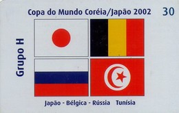 TARJETA TELEFONICA DE BRASIL (FUTBOL, GRUPO H, BANDERAS 8/8, 05/2002). (451) - Brazil