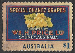 Australia 2016 Fruit Labels $1 Type 4 Self Adhesive Good/fine Used [38/31213/ND] - 2010-... Elizabeth II