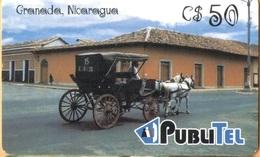 Nicaragua - NI-PUB-0014, PubliTel, Carriages, Granada, Nicaragua, C$50 , Used - Nicaragua