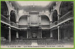 """Format CPA 75011 PARIS - """"LE FOYER De L'ÂME"""" Eglise Réformée Evangélique Rue Daval * Orgues Culte Protestant - Distretto: 11"""