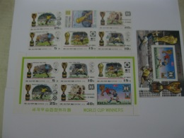 DPR Korea 1978 World Cup Football MICHEL No.1747-1752 ,Block50 And Sheet Of 6 Stamps - 1978 – Argentine