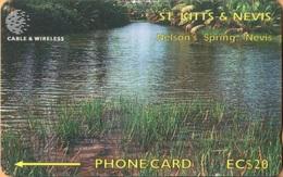 St. Kitts & Nevis - STK-283B, GPT, 283CSKB, Nelson's Spring, 20 EC$, 10.000ex, 1998, Used As Scan - St. Kitts & Nevis