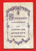 SOUVENIR Des ORPHELINS D'AUTEUIL Image + Médaille  / MEDAILLE RELIGIEUSE - Religion & Esotérisme