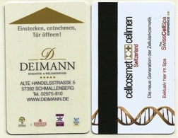 Deutschland / Germany Hotelkarte Keycard Vom Hotel Deimann In Schmallenberg - Hotel Keycards