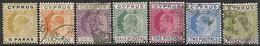 Cyprus  1904-7   Sc#48-54 Edwards  Used    2016 Scott Value $24.85 - Cyprus (...-1960)