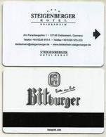 Deutschland / Germany Hotelkarte Keycard Vom Steigenberger Hotel In Deidesheim - Hotel Keycards