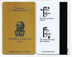 VAR / Dubai Hotelkarte Keycard Vom Hotel The Ritz-Carlton In Dubai - Hotel Keycards