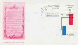 Enveloppe  FDC  1er  Jour   ESPAGNE   Bicentenaire  De  La   REVOLUTION   FRANCAISE    1989 - Révolution Française