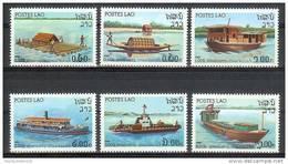 Mua322 TRANSPORT BOTEN BOOT SCHIP BOATS SHIPS FLUßSCHIFFAHRT LAOS 1982 PF/MNH - Boten