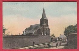 Aulnois-Quèvy - L'Eglise ... Jolie Carte Couleur - 1907 ( Voir Verso ) - Quévy
