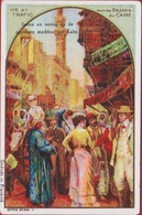 Dans Les Bazars Du Caire Cairo Kairo Egypt Egypte Cichorei Talpe Roeselare Oude Old Chromo Litho Lithographie - Thé & Café