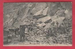 Quenast - Carrières -Fabrication Des Pavés ... Par Les Ouvriers - 1908  ( Voir Verso ) - Rebecq