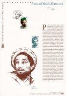 """"""" COMMANDANT AHMAD SHAH MASSOUD """" Sur Document Philatélique Officiel De 2003 (Prix à La Poste = 5.00) DPO N° YT 3594. - Postdokumente"""