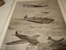 AFFICHE GRAVURE DES AVIONS DE 1939 - 1939-45