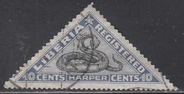 LIBERIA    SCOTT NO. F22   USED      YEAR 1921 - Liberia