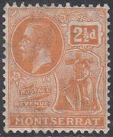 MONTSERRAT    SCOTT NO. 63      MINT HINGED       YEAR 1922     WMK-4 - Montserrat