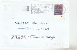 YT 4125 CROIX ROUGE SEUL SUR LETTRE FAYENCE  22/6/2008 POUR TOULON - Marcofilia (sobres)