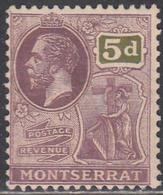 MONTSERRAT    SCOTT NO. 67      MINT HINGED       YEAR 1922     WMK-4 - Montserrat