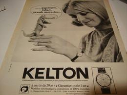 ANCIENNE PUBLICITE MONTRE KELTON 1965 - Gioielli & Orologeria
