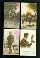 Beau Lot De 20 Cartes Postales De Fantaisie Soldat Armée  Mooi Lot Van 20 Postkaarten Fantasie Soldaat Leger Militair - Postcards
