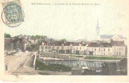 (45) Loiret - Briare - L'entrée De La Grande Rue Et Les Quais - Briare