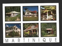 Martinique Maisons Créoles Multivues Carte Postale - Martinique