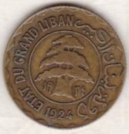 ETAT DU GRAND LIBAN. 5 PIASTRES 1924 - Lebanon