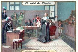 """Chromo CHOCOLAT Du PLANTEUR (n° 26 """"Marie-Antoinette Au Tribunal Révolutionnaire"""" 14-8bre1793) - Chocolat"""