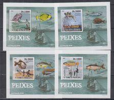 V84. MNH S.Tome E Principe Nature Animals Marine Life Fishes - Fishes