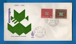 Italia -  FDC. VENETIA . 1963. EUROPA. AS. ROMA.  No Viaggiata.  Vedi Descrizione - 6. 1946-.. Republic