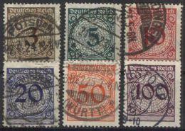 DEUTSCHES REICH 1923 Mi-Nr. 338/43 O Used - Germany