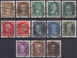 DEUTSCHES REICH 1926 Mi-Nr. 385/97 O Used - Germany