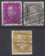 DEUTSCHES REICH 1930 Mi-Nr. 435/37 O Used - Germany