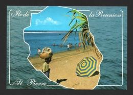 île De La Réunion Plage De Saint Pierre Carte Postale Océan Indien - Saint Pierre