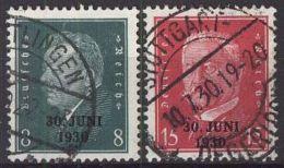 DEUTSCHES REICH 1930 Mi-Nr. 444/45 O Used - Germany