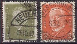 DEUTSCHES REICH 1932 Mi-Nr. 465/66 O Used - Germany