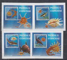 V84. MNH S.Tome E Principe Nature Animals Marine Life Fishes Seashells - Fishes