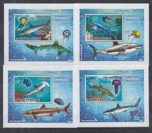 V84. MNH S.Tome E Principe Nature Animals Marine Life Sharks - Fishes