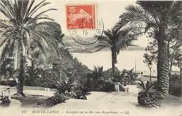 - Dpts Div.-ref-AB595- Monaco - Monte Carlo - Echappee Sur La Mer Vers Roquebrune - Alpes Maritimes - Carte Bon Etat - - Monte-Carlo