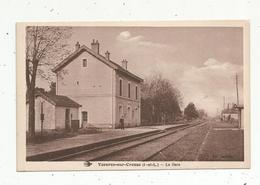 Cp , Chemin De Fer ,la GARE , 37 , YZEURES SUR CREUSE , Vierge - Gares - Sans Trains