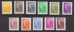 2008-N°208/218** MARIANNE DE BEAUJARD - Adhesive Stamps