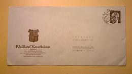 1973 BUSTA INTESTATA GERMANIA GERMANY VIAGGIATA BOLLO GUSTAV HEINEMANN - [7] Federal Republic