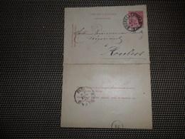 ( 60 )  Entier Postal  Postwaardestuk Carte - Lettre Kaartbrief 1881  Stempel  Cachet  BRUXELLES ( NORD )  ROULERS - Enteros Postales