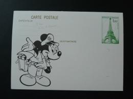 51 Marne Vitry Le François Mickey Walt Disney Entier Postal Tour Eiffel Cheffer Stationery Card - Stripsverhalen