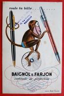 Ancien Buvard PUBLICITAIRE Baignol Et Farjon Tampon SAINGERY 08 VOUZIERS - Blotters