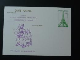 66 Amelie Les Bains 37eme Festival Folklore Musique Violon Violin Entier Postal Tour Eiffel Cheffer Stationery Card - Music